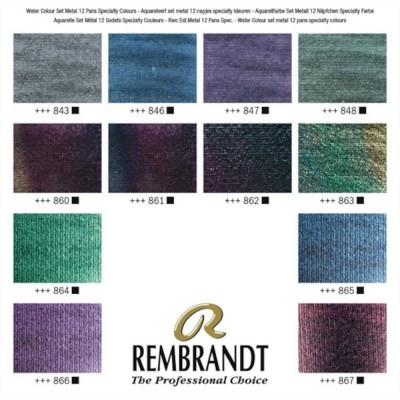 Colori ad Acquerello Extrafine Rembrandt - Set 12 mezzi godet Special Effects