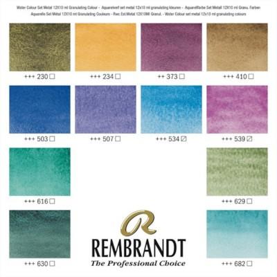 Colori ad Acquerello Extrafine Rembrandt - Set 12 Tubetti 10ml colori Granulati