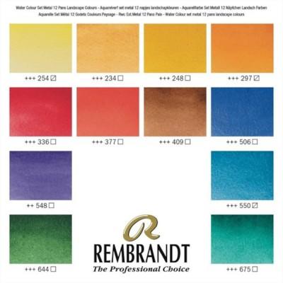Colori ad Acquerello Extrafine Rembrandt - Set 12 Tubetti 10ml colori Paesaggio