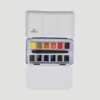Colori ad Acquerello Extrafine Rembrandt - Set 12 mezzi godet colori Paesaggio