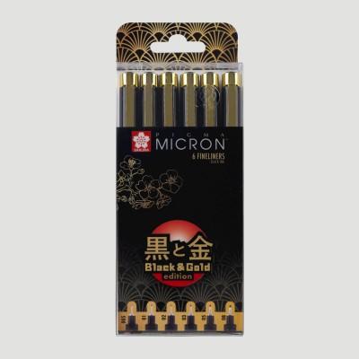 Pigma Micron Sakura Gold Edition - Set 6 Pigma Liner