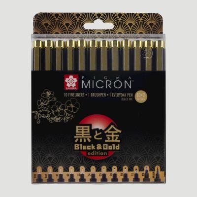 Pigma Micron Sakura Gold Edition - Set 12 Pigma Liner