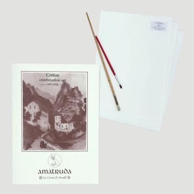 Cartella Artisti A4 Amatruda - 20 fogli 100% cotone Lisci e Ruvidi