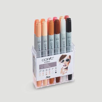 Confezione Copic Ciao Marker - 12 colori toni pelle