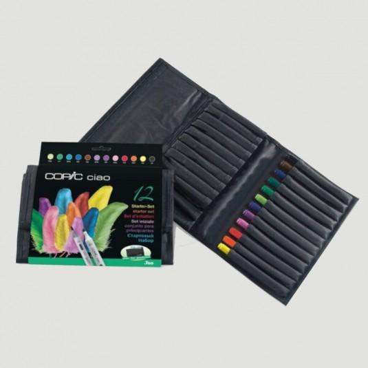 Astuccio in tessuto Copic Ciao Marker - confezione 12 colori Starter Set