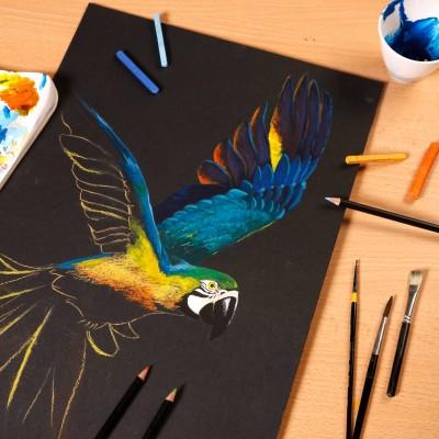 Blocco Paint On Nero Clairefontaine, per i colori chiari