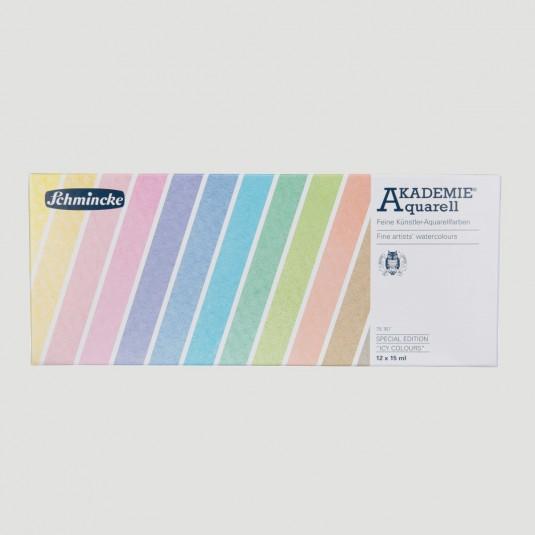Set Acquerelli Akademie Schmincke, 12 tubetti da 15ml Edizione Limitata
