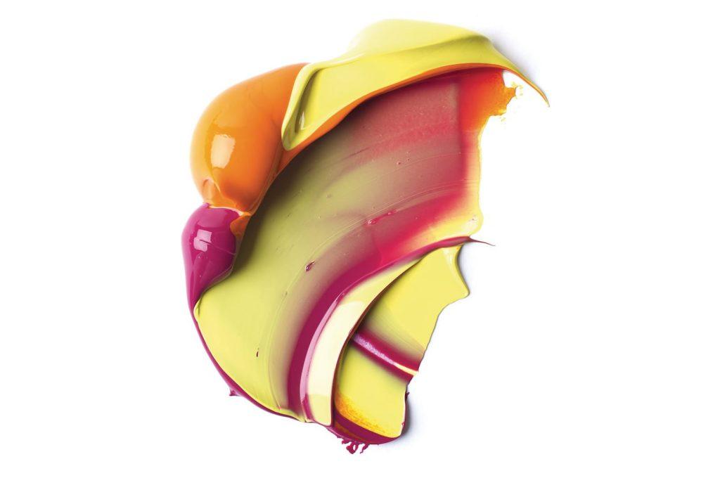 Colori miscelati utilizzando l'acrilico heavy body
