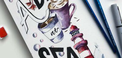 Una giornata al mare con gli acquerelli Cotman