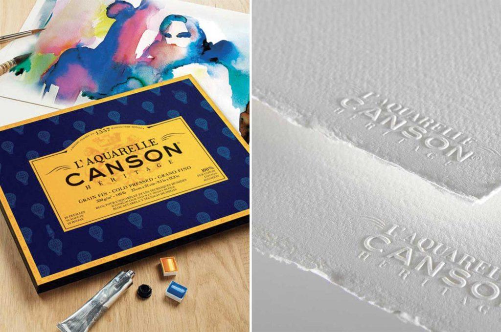 La carta per acquerello Canson Heritage