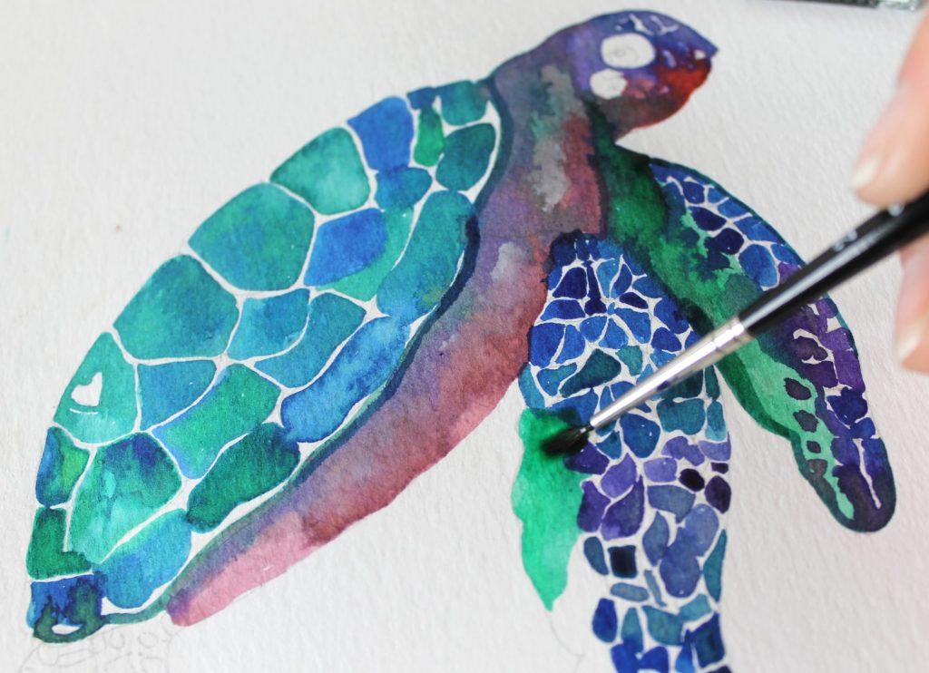 Tartaruga art Winsor & Newton con pennello
