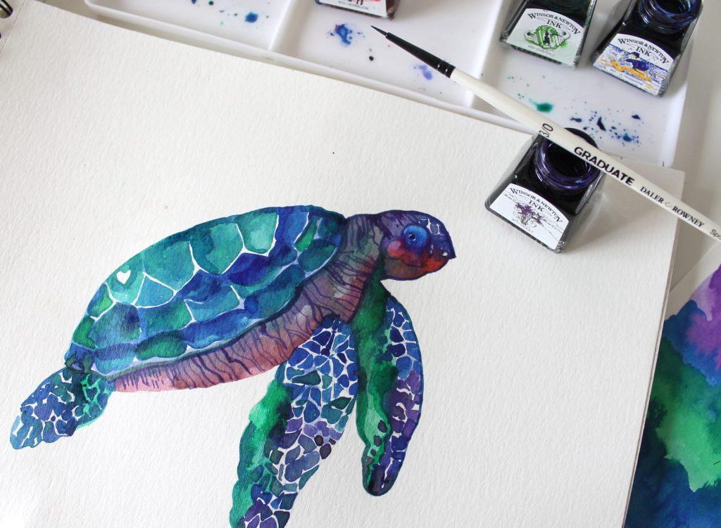 tartaruga striature Violet Winsor & Newton