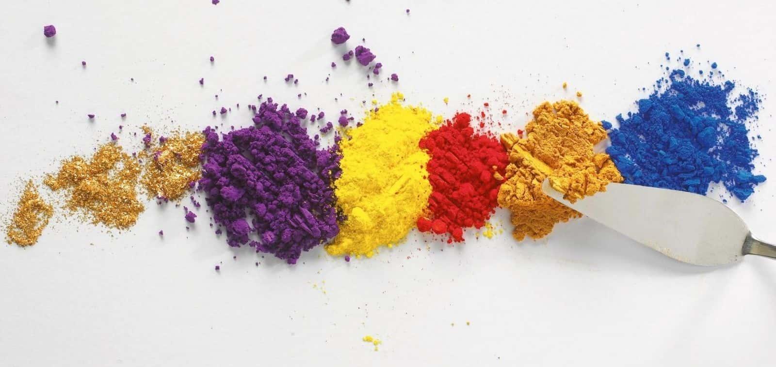 Pigmenti per la pittura con spatola
