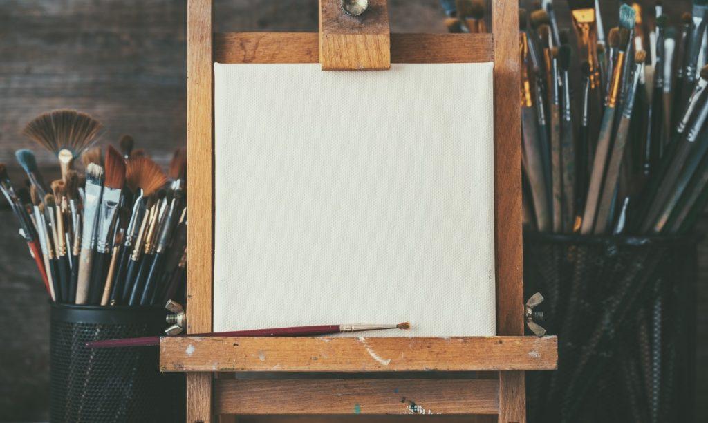 Dettaglio di una tela per dipingere