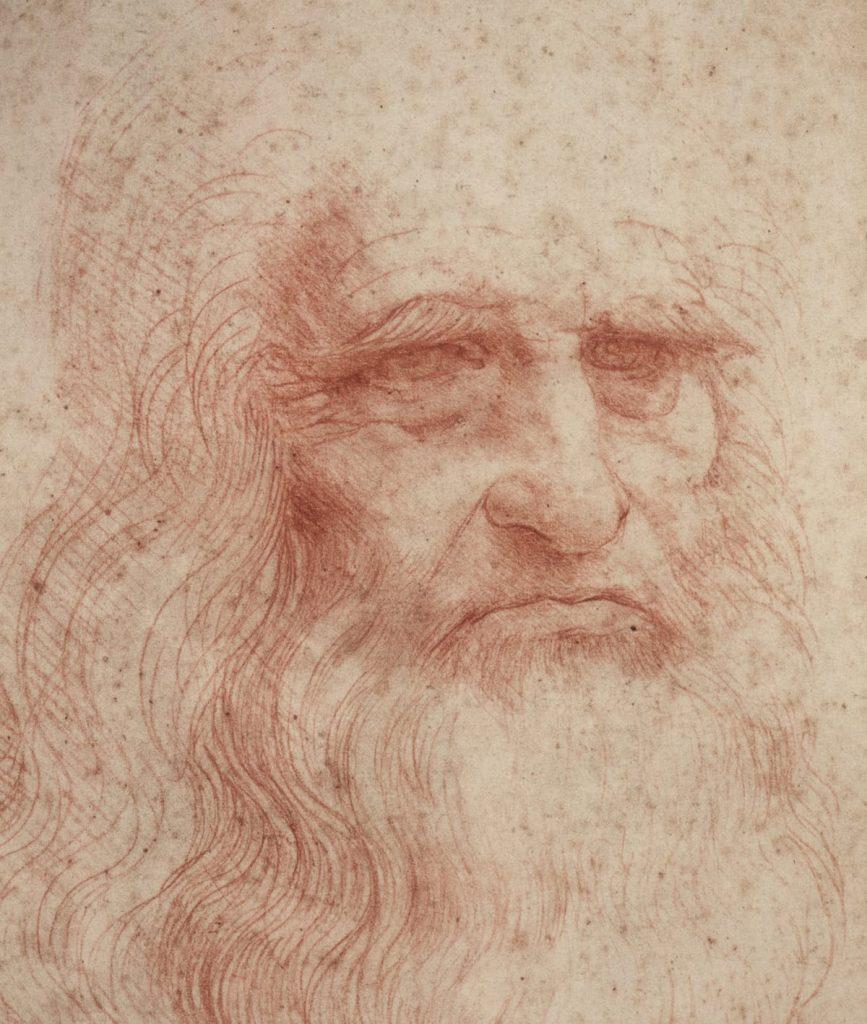 Leonardo: autoritratto con sanguigna