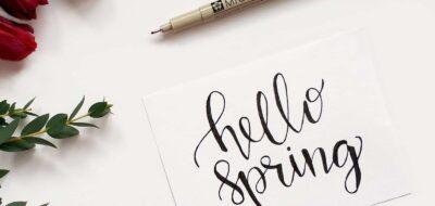 Esempio di lettering con penna a inchiostro