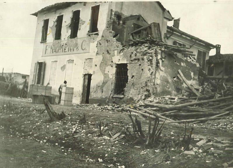Conseguenze dei bombardamenti sullo stabilimento